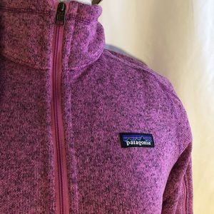 Patagonia w better sweater jacket pink. NWT M